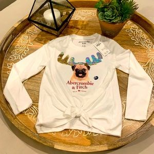 🎉HP🎉Abercrombie & Fitch🐶 Long Sleeve Kids Shirt